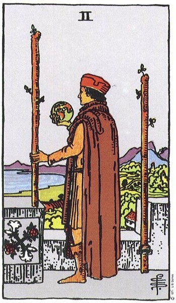 Harmonious Tarot vs. Rider-Waite Tarot – Two of Wands