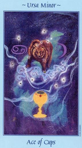Lá Ace of Cups - Celestial Tarot