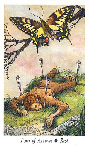 Lá Four of Arrows - Wildwood Tarot