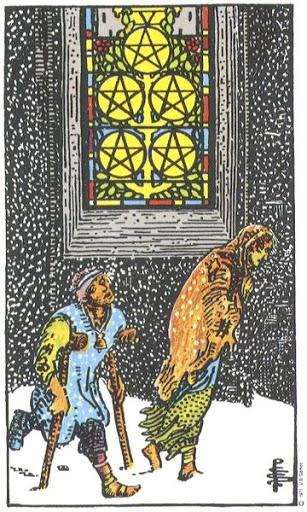 Ý Nghĩa Biểu Tượng 78 Lá Bài Tarot – Five of Pentacles