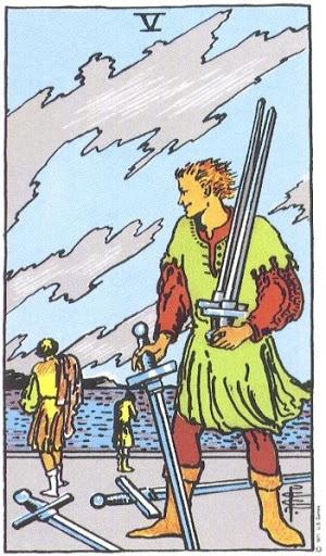 Ý Nghĩa Biểu Tượng 78 Lá Bài Tarot – Five of Swords