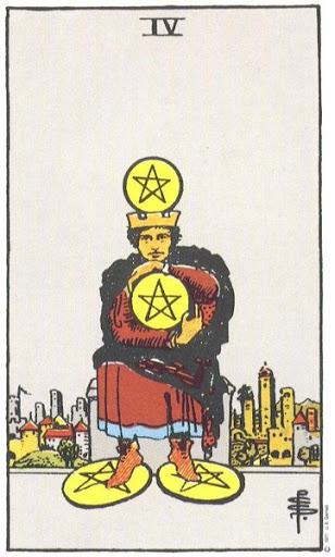 Ý Nghĩa Biểu Tượng 78 Lá Bài Tarot – Four of Pentacles