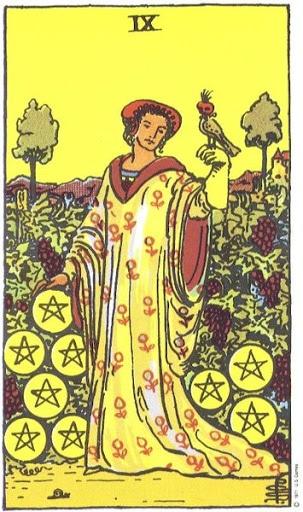 Ý Nghĩa Biểu Tượng 78 Lá Bài Tarot – Nine of Pentacles