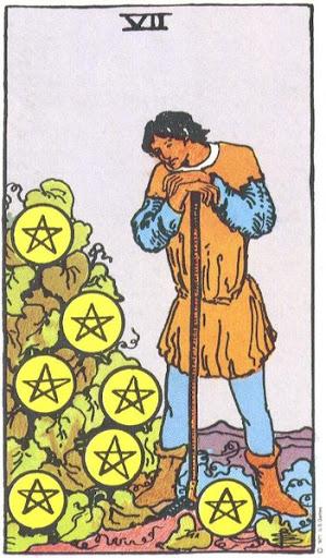 Ý Nghĩa Biểu Tượng 78 Lá Bài Tarot – Seven of Pentacles
