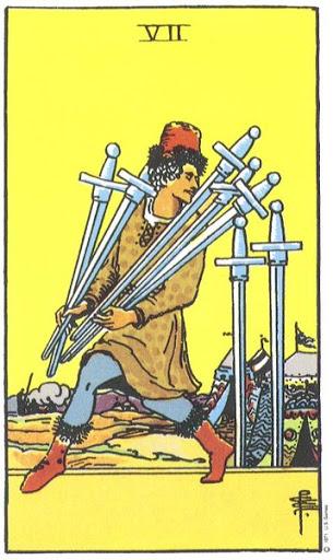 Ý Nghĩa Biểu Tượng 78 Lá Bài Tarot – Seven of Swords