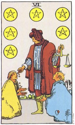 Ý Nghĩa Biểu Tượng 78 Lá Bài Tarot – Six of Pentacles