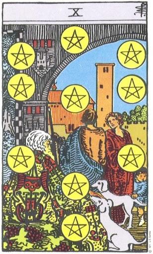 Ý Nghĩa Biểu Tượng 78 Lá Bài Tarot – Ten of Pentacles
