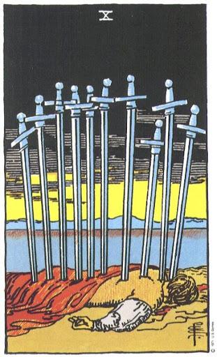 Ý Nghĩa Biểu Tượng 78 Lá Bài Tarot – Ten of Swords