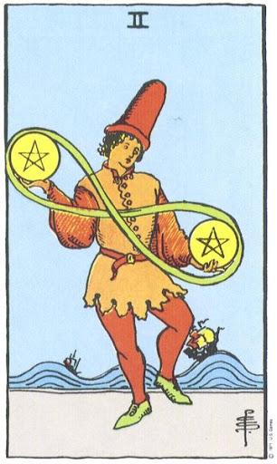 Ý Nghĩa Biểu Tượng 78 Lá Bài Tarot – Two of Pentacles