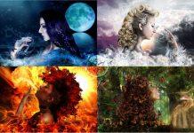 Air (khí), Earth (đất), Fire (lửa) và Water (nước)