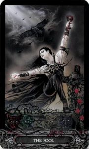 Lá Bài 0. The Fool - Tarot of Vampyres
