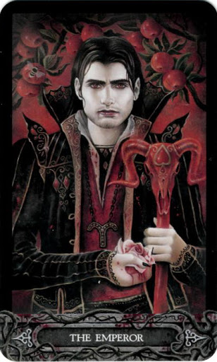 Lá Bài IV. The Emperor - Tarot of Vampyres