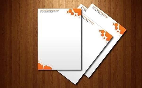 Địa chỉ in ấn giấy tiêu đề Letterheads chất lượng tại HCM 2